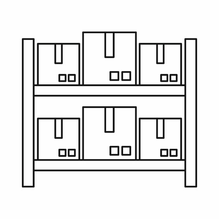 lading: Storage of goods in warehouse icon in outline style isolated on white background. Shipping symbol