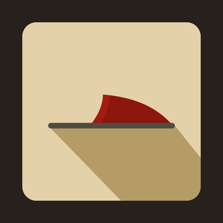 downy: Pair of red slippers icon in flat style on a beige background
