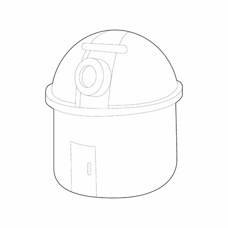 observatory: Observatory station icon in outline style on a white background