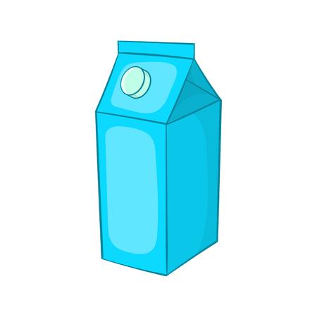 carton de leche: Leche icono caja de cart�n en estilo de dibujos animados aislado en el fondo blanco Vectores