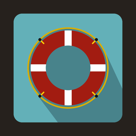 lifeline: Lifeline icon in flat style with long shadow. Help symbol Illustration