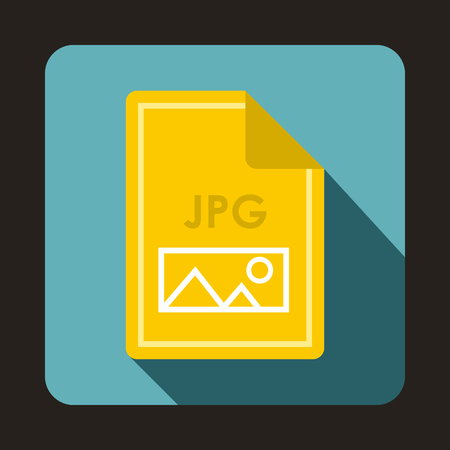 file types: File JPG icon in flat style with long shadow. Document type symbol