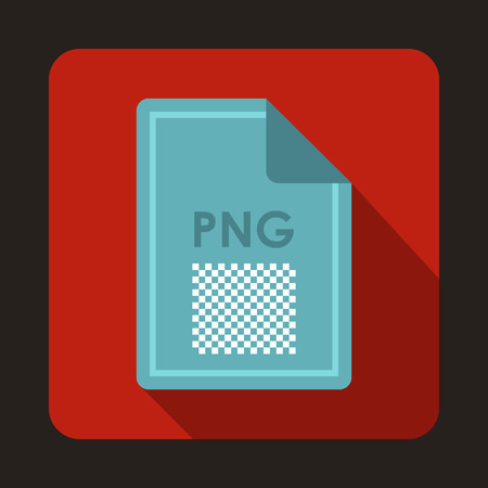 png: File PNG icon in flat style with long shadow. Document type symbol