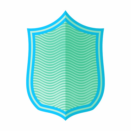 combatant: Military shield icon in flat style isolated on white background. War symbol Illustration