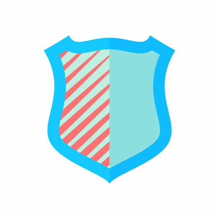 Army shield icon in flat style isolated on white background. War symbol