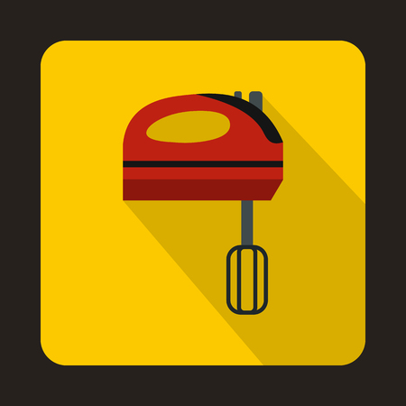 licuadora: Mixer icon in flat style with long shadow. Home appliances symbol