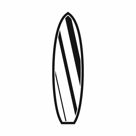 surfboard fin: Surfboard icon in simple style isolated on white background. Surfing symbol Illustration
