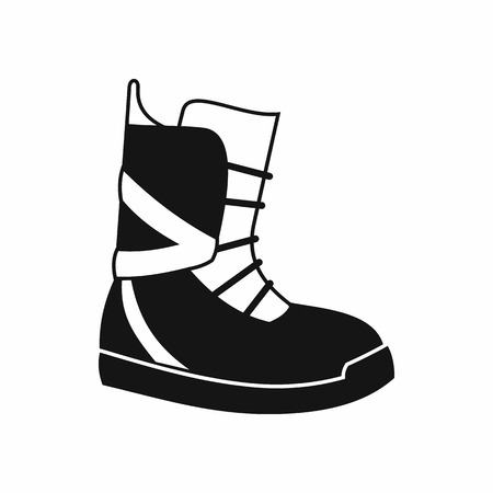 Boot for snowboarding icon in simple style isolated on white background. Shoes symbol Illustration