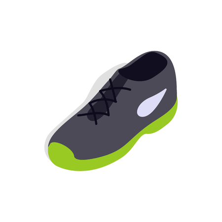 tennis shoe: Tennis shoe icon in isometric 3d style isolated on white background
