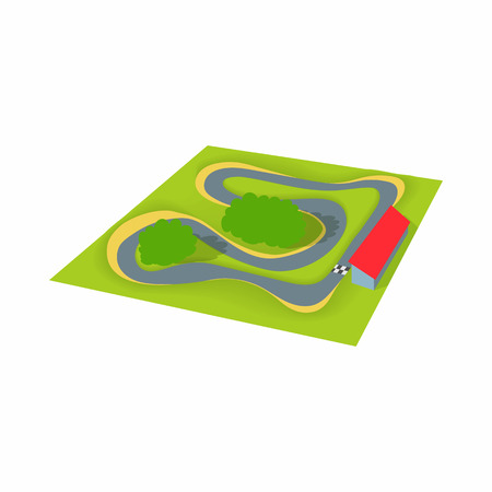 speedway: Speedway icon in cartoon style isolated on white background. Track symbol Illustration