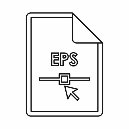 file extension: EPS file extension icon in outline style isolated on white background