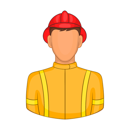fireproof: Firemen icon in cartoon style on a white background