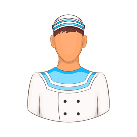 Sailor icon in cartoon style on a white background Illustration
