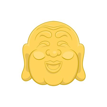 buddist: Budha head icon in cartoon style on a white background
