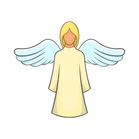 Angel icon in cartoon style on a white background Illustration
