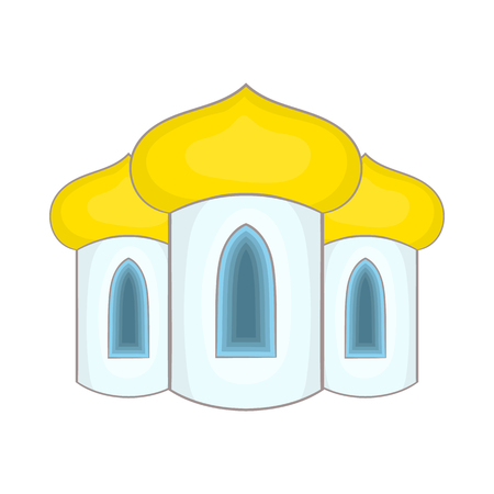 domes: Domes of the church icon in cartoon style on a white background Illustration