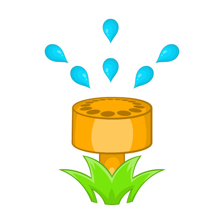 Sprinkler icon in cartoon style on a white background