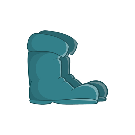 Old boots icon in cartoon style on a white background Illustration