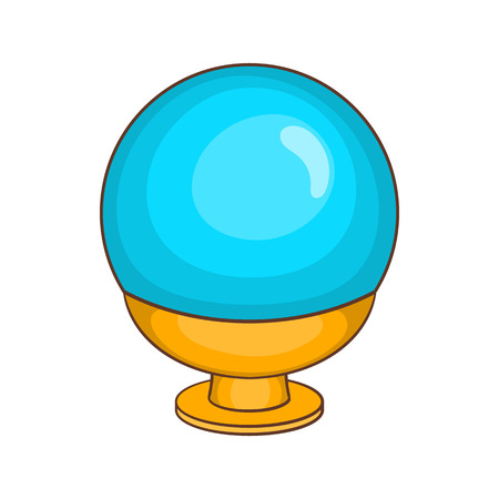 Magic ball icon in cartoon style on a white background