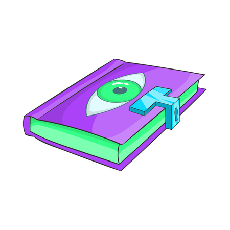 magic book: Magic book icon in cartoon style on a white background