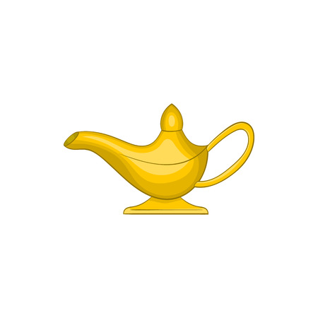 Middle east oil lamp icon in cartoon style on a white background Illustration