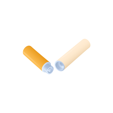 Electronic cigarette battery and vaporizer icon in cartoon style on a white background Illustration