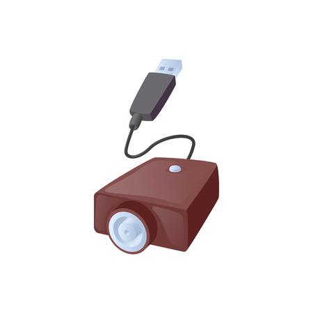 encendedores: símbolo de carga cable USB cigarrillo electrónico en el estilo de dibujos animados sobre un fondo blanco