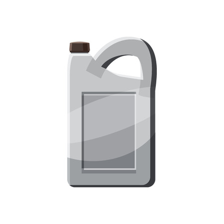 tare: Plastic canister icon in cartoon style on a white background Illustration