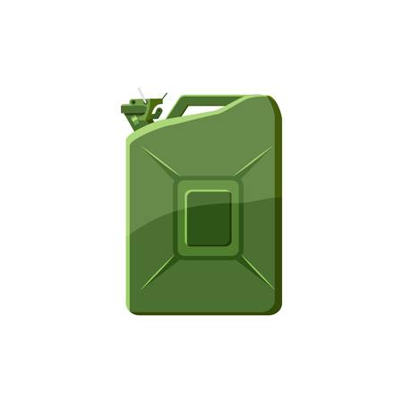 tare: Green jerrycan icon in cartoon style on a white background