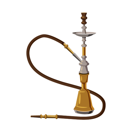 Hookah icon in cartoon style on a white background Illustration
