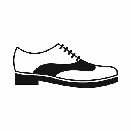 men's shoes: Men shoe with lace icon in simple style isolated on white background. Wear symbol