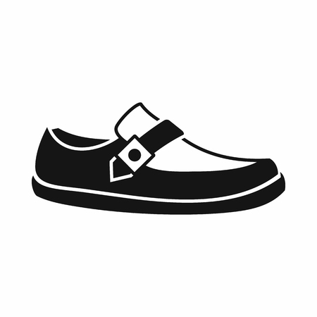moccasin: Men moccasin icon in simple style isolated on white background. Wear symbol
