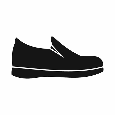 loafer: Shoes icon in simple style isolated on white background. Wear symbol