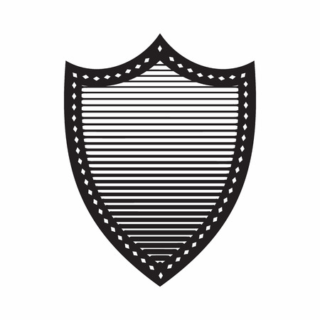 combat: Combat shield icon in simple style isolated on white background. War symbol
