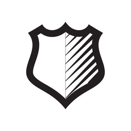 iron defense: Shield for combat action icon in simple style isolated on white background. War symbol Illustration