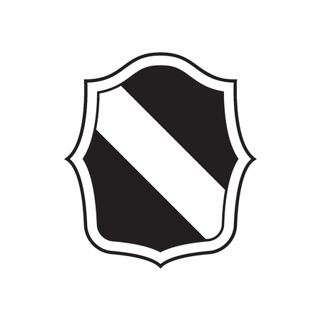 combatant: Army shield for war icon in simple style isolated on white background. Protection symbol Illustration