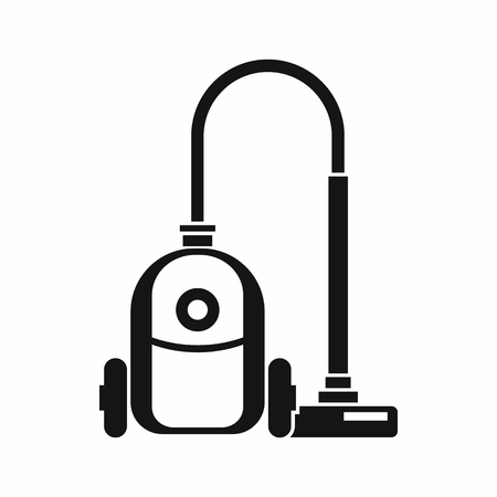 vac: Vacuum cleaner icon in simple style isolated on white background. Home appliances symbol Illustration