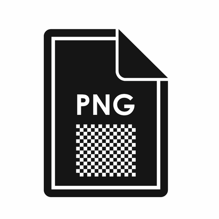 png: File PNG icon in simple style isolated on white background. Document type symbol