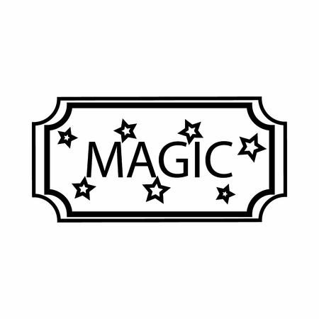 entertaining presentation: Sign magic icon in outline style isolated on white background. Tricks symbol