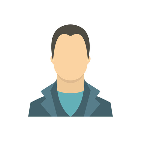 Man icon in flat style on a white background