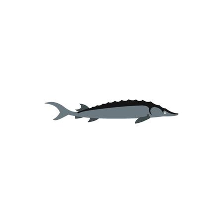 mackerel: Mackerel icon in flat style on a white background