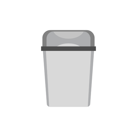 waster: Kitchen garbage can icon in flat style isolated on white background Illustration