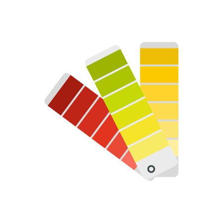 color selection: Paper color palette icon in flat style isolated on white background. Gamma selection symbol