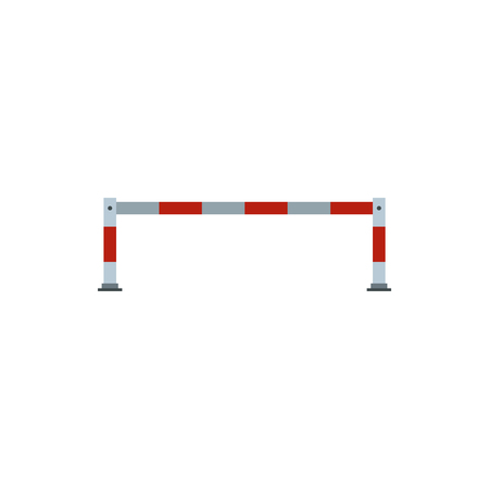 barrier gate: Barrier icon in flat style isolated on white background