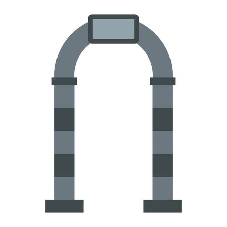 stone arch: Stone arch icon in flat style on a white background Illustration