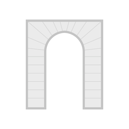 archway: Stone arch icon in flat style on a white background Illustration