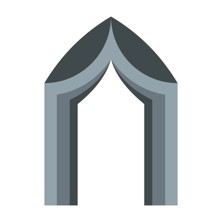 portal: Gothic portal icon in flat style on a white background