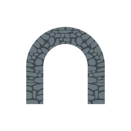 natural arch: Stone arch icon in flat style on a white background Illustration