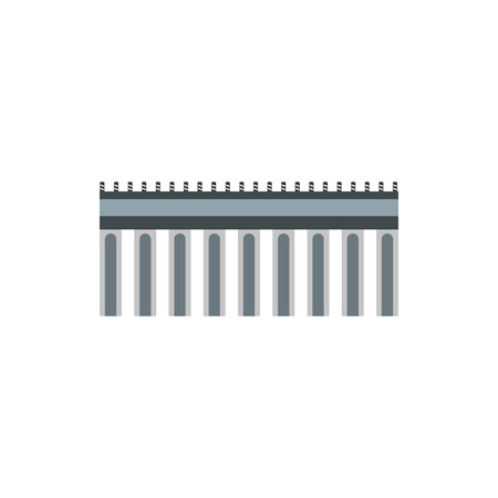 viaduct: Bridge icon in flat style on a white background Illustration