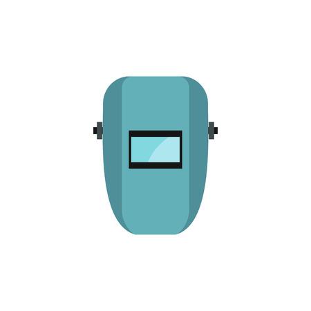 welder: Welder mask icon in flat style on a white background Illustration